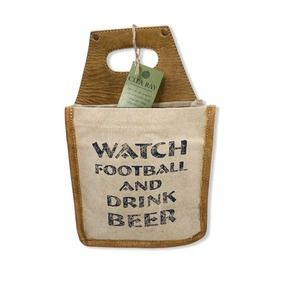 Clea Ray Watch Football Drink Beer Canvas Caddy